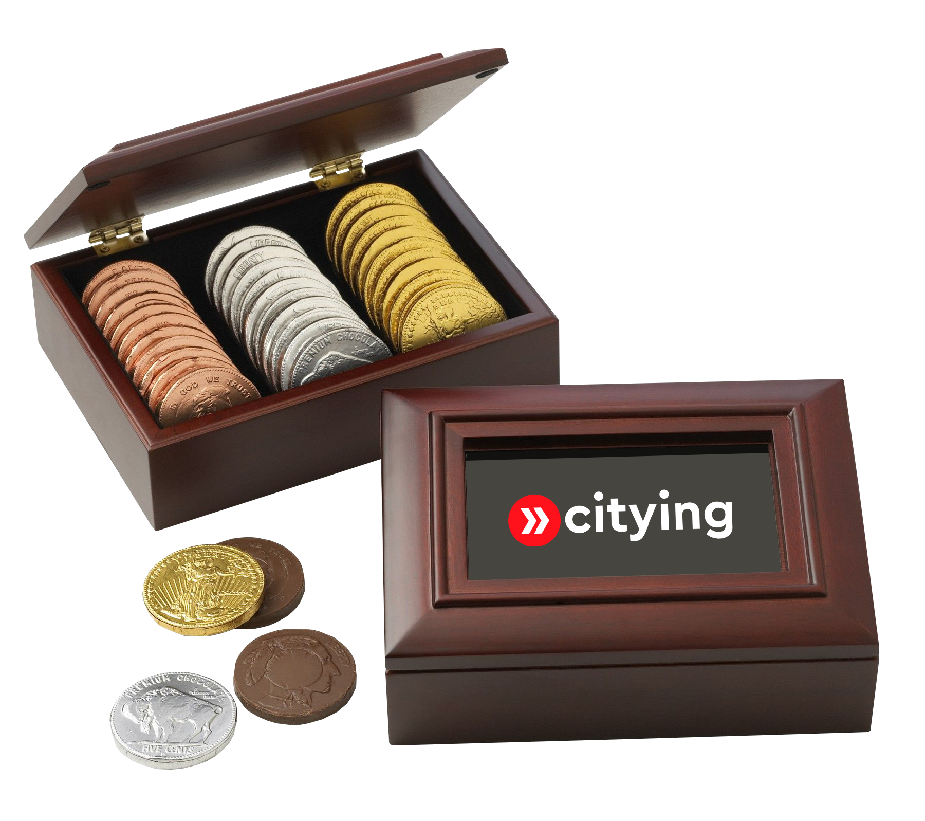Chocolate Coin Box